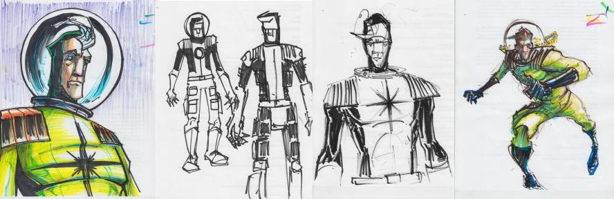 John Gajowski, #comics , #scifi, #iongrip, #johngajowski, #characterdesign