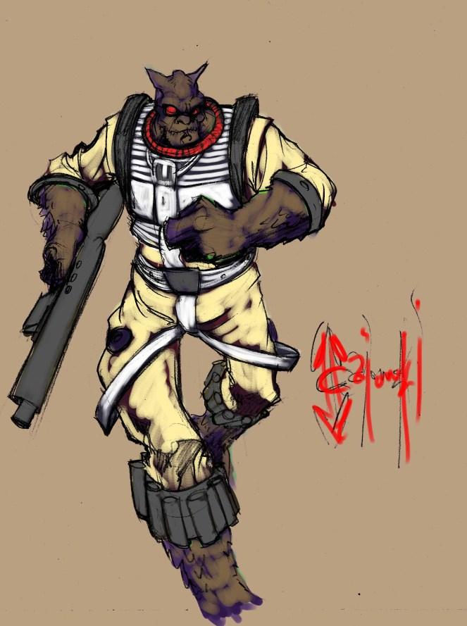 star wars, starwars, john gajowski, johngajowski, bossk, disney, bounty hunter, empire strikes back, character design