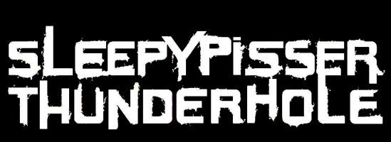 sleepy piss font logo white