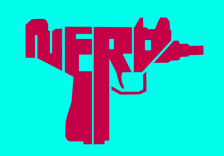 NERD UZI, nerd uzis, logo. Grindcore, popcore, music, johngajowski, john gajowski, design, john gajowski design,