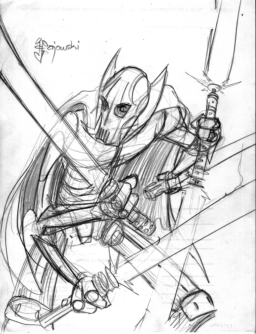 General grievous clone colouring pages for General grievous coloring page