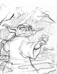 star wars, starwars, yoda, johngajowski, john gajowski, sketch, pencils, scifi, science fiction