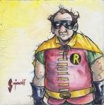 john gajowski, johngajowski, robin, batman, watercolor, , dc, dc comics, 88 strong