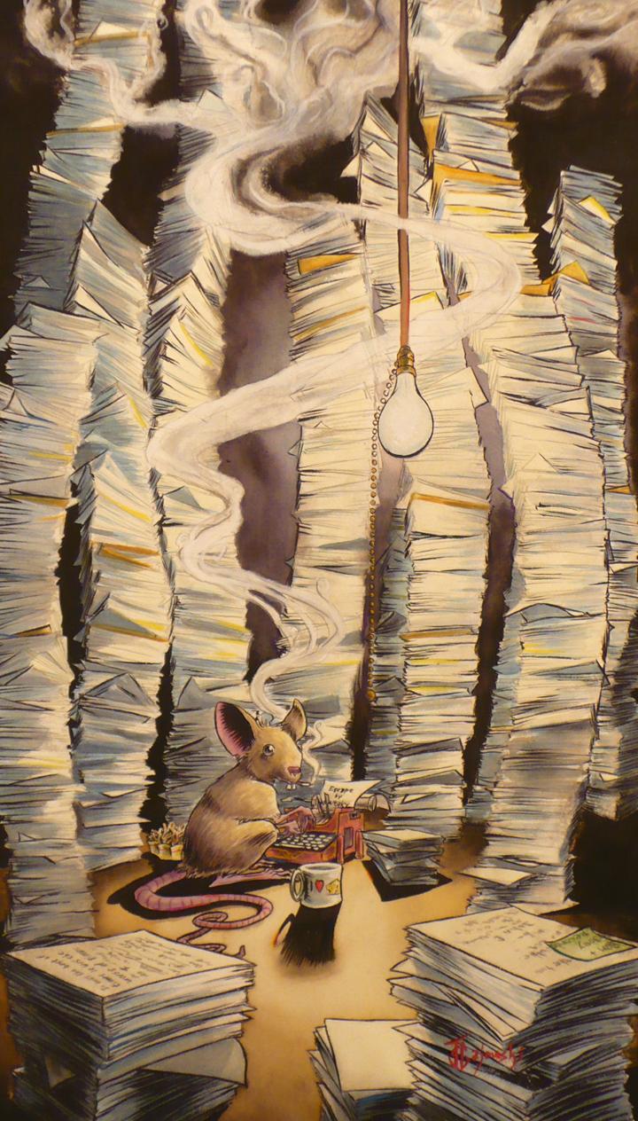 #watercolor, #johngajowski, #john gajowski, #mouse